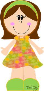 - Spring Time, Cute Kids, Bb, Clip Art, Cartoon, Blanket, Cards, Fabric Dolls, Little Girls