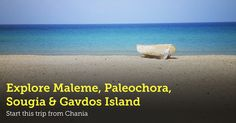 New! Chania Excursion to Maleme, Paleochora, Sougia & Gavdos Island!  ▶ http://www.rental-center-crete.com/blog/chania-trip-to-maleme-sougia-paleochora-gavdos/