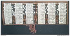 B 89B/1 CALENDARIETTO CALENDARIO PICCOLO 1927 TAORMINA PARRUCCHIERE PROFUMERIA ALBERGO SAN DOMENICO MESSINA