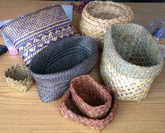 Raranga – Weaving Is Pretty Awesome Flax Weaving, Basket Weaving, Cyberpunk Art, Diy Home Crafts, Weaving Techniques, Cloth Bags, Pretty Cool, Sewing, Owls