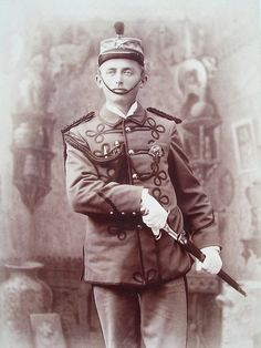 Columbian Exposition Guard 1893. They were chosen for their height, physique, character and skill