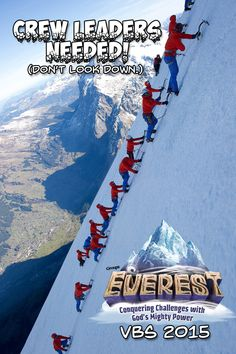 Sign to get volunteers for Everest VBS 2015