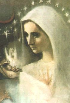 Mother of the Unborn Miss Tidwell, an American artist, was inspired to paint this beautiful depiction of our Blessed Mother grieving Divine Mother, Blessed Mother Mary, Mother Goddess, Blessed Virgin Mary, Mother Teresa, Heavenly Father, Catholic Art, Religious Art, Roman Catholic