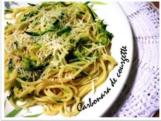 Courgette  Carbonara - Meatless Monday