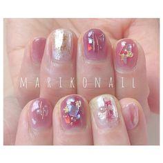 """mariko mori on Instagram: """"#marikonail #Instagramをみて #トレンドネイル #パラジェル #パラジェルサロン #秋ネイル #冬ネイル #ニュアンスネイル #名古屋ネイル #nail #nails #ネイル #ネイルアート #ジェルネイル #ネイルサロン #ネイルデザイン…"""" Pink Brown, Red And Pink, Mariko Mori, Nail Arts, Red Nails, Wedding Nails, Pretty Nails, Manicure, Nail Designs"""
