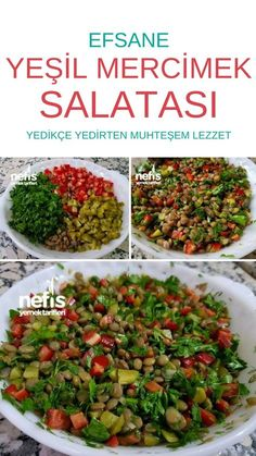 Mercimek Salatası – Nefis Yemek Tarifleri – Lentil Salad # Mercimeksalata of the the Healthy Salad Recipes, Yummy Recipes, Dinner Recipes, Cooking Recipes, Yummy Food, Lentil Recipes, Pasta Recipes, Lentil Salad, Grilled Chicken Recipes