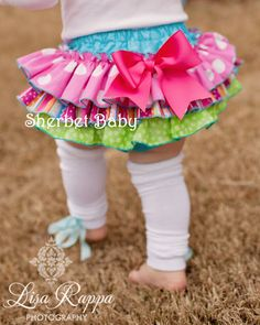 Sassy Pants Ruffle Diaper Cover Panty    Candy Shop by SherbetBaby, $30.00