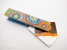 Organize Your Home Office with Wooden Clothespins and Jacquard Products