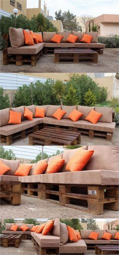 L-shaped Couch Furniture for Garden # Pallet Furniture Couch DIY Furniture Garden LShaped Palletfurniture Pallets Palletwood Pallet Garden Furniture, Wooden Pallet Furniture, Diy Outdoor Furniture, Couch Furniture, Pallets Garden, Wood Pallets, Furniture Ideas, Pallette Furniture, Recycled Pallets