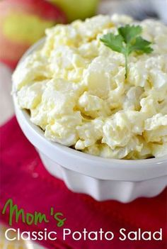 Mom's Classic Potato Salad is an old family favorite. Creamy, and just right!