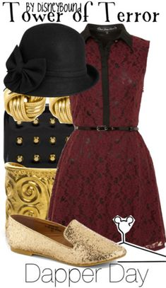 Tower of Terror inspired outfit by DisneyBound