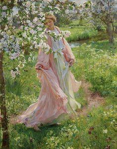 'Summer is Incumen In' by Herbert Arnould Olivier, 1902 / oil on canvas