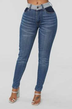 21b1b324 Not Your Basic Skinny Denim Jeans - Dark Denim