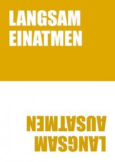 Einatmen, Ausatmen | 180° | Echte Postkarten online versenden | MyPostcard.com