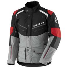 ΜΠΟΥΦΑΝ SCOTT : Μπουφάν Scott Turn ADV DP Black/Light Grey Motorcycle Jacket, Grey, Jackets, Black, Products, Accessories, Fashion, Motorbikes, Ash