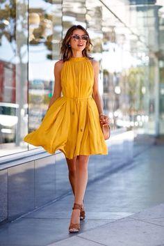 Brilliant yellow dress!