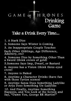 game of thrones drinking puns