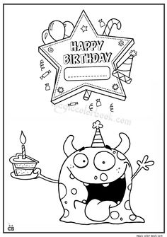 Pin By Magic Color Book On Birthday Coloring Pages