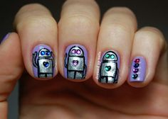 Rhinestones and robots!  So cute