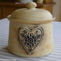Dóza přírodní keramika