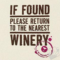 Funny 'Return to Winery' T-Shirt #wineenthusiast