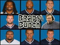 Tom Brady's Brady Bunch. The New England Patriots. #bostonusa