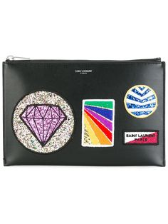 Saint Laurent multi-patch clutch
