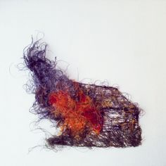 'Burning Barn' machine embroidery by Rae Miranda