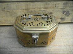 vintage antique brass cricket trinket box by GarysAtticTreasure, $16.00