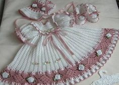 special occasions baby dress with shoes and hat