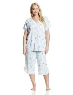 Karen Neuburger Women's Plus-Size Sho. Cardigan Floral, Plus Size Sleepwear, Women's Plus Size Shorts, Short Sleeve Cardigan, Put On, Plus Size Women, Plus Size Fashion, Lounge, Rompers