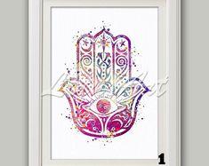 Hamsa hand tattoo print tattoo design spiritual art hand | Etsy Angel Hand Tattoo, Fatima Hand Tattoo, Hand Of Fatima, Hand Tattoos For Women, Spiritual Gifts, Hand Art, Print Tattoos, Tattoo Designs, Art Prints