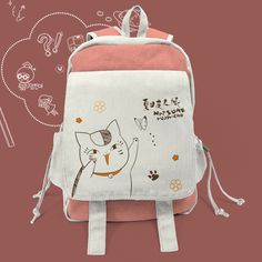 [Natsume Yuujinchou] Kawaii Neko Cat Canvas Backpack SP165401