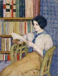 """Girl  Reading"", Torajiro Kojima (1821-1929), Japanese   /   AA"