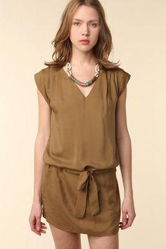 Sessun Sosa Silk Dress-Urban Outfitters