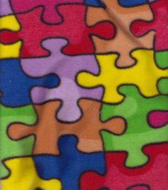Anti-Pill Fleece Fabric-Jigsaw Puzzle & Anti-Pill Fleece at Joann.com