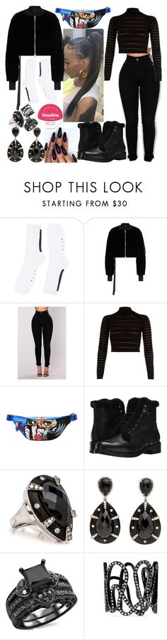 """""""Bum Bag"""" by goodgirldeja ❤ liked on Polyvore featuring Alyx, Unravel, River Island, Moschino, rag & bone, Repossi and Vaseline"""