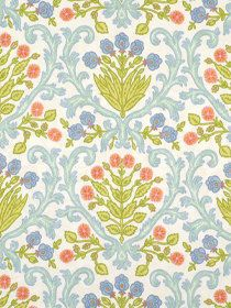 Upholstery Fabric Floral Fabric by the Yard Modern Blue Floral Fabric Online