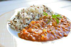 Un plato del blog NO SIN MI TAPER con un sabor fabuloso otorgado no solo por el curry, sino por otras muchas especias.