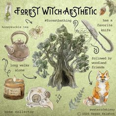 Forest Witch Aesthetic Print - Wall Art