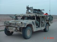 U.S. Special Forces HMMWV NOTE: lightly armored but great utilitarian concepts