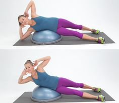 10 exercises that will give you a great full body workout with just your BOSU ball.