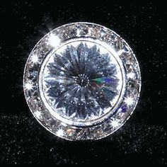 #14996 - 18mm Rondel Button with Crystal Rivoli Center