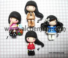 1 lovely girl chibi necklace made in italy by AlchemianShop, €30.00