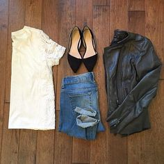 jillgg's good life (for less)   a style blog: Instagram style… summer into fall! Feminine + leather.