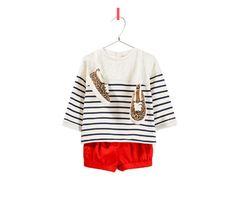 LOOK SWEATSHIRT RISCAS - Looks - Bebé rapariga - Crianças | ZARA Portugal