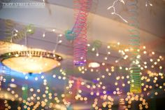 Bar Mitzvah Slinky Ceiling & String Lights {The Event of a Lifetime} | Cool Party Ideas - mazelmoments.com