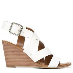 650ddf58e8f8 Franco Sarto Women s Yara Wedge Sandals (White Leather)