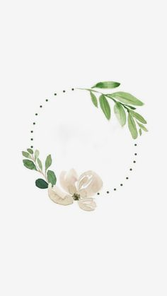 Wreath Watercolor, Easy Watercolor, Watercolor Flowers, Watercolor Paintings, Simple Iphone Wallpaper, Wallpaper Backgrounds, Iphone Wallpapers, Logo Fleur, Instagram Background