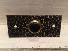 Antique Vintage NOS Brass Door Bell Push Button Hardware Hammered ARTS & CRAFTS    eBay